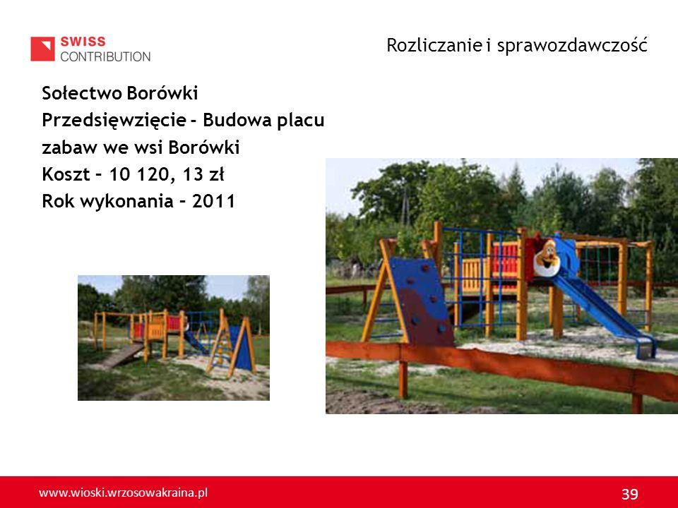www.wioski.wrzosowakraina.pl 40 GMINA LUBIN Rozliczanie i sprawozdawczość