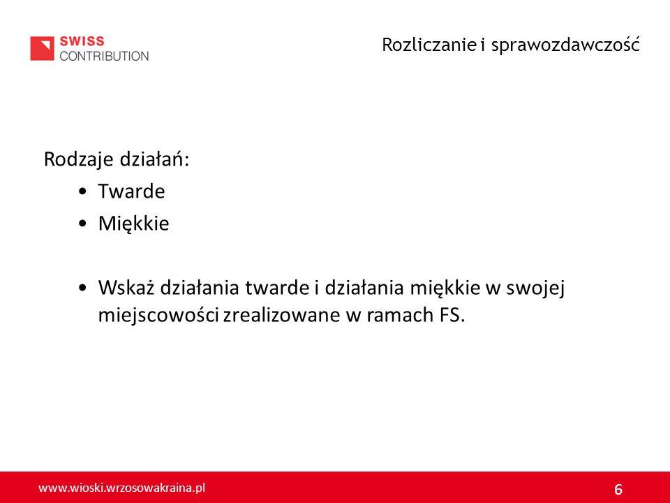 www.wioski.wrzosowakraina.pl 7 Działania TWARDE (tzw.