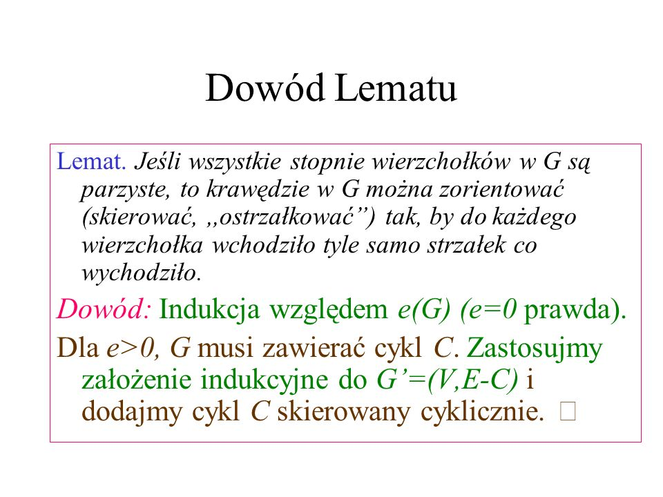Dowód Lematu Lemat.