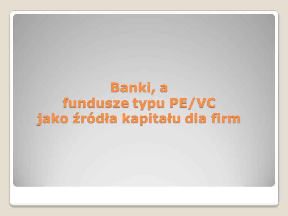 Fundusz PRIVATE EQUITY (PE) czyli fundusz aktywów niepublicznych Jest to instytucja zbiorowego inwestowania, która zebrane od inwestorów pieniądze lokuje w akcje spółek nienotowanych na giełdzie papierów wartościowych oraz udziały w spółkach z ograniczoną odpowiedzialnością Fundusz PE nabyte udziały po pewnym czasie sprzedaje lub wprowadza je na giełdę lub na inny rynek