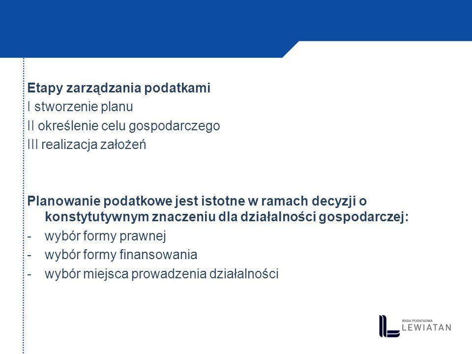 Wybór formy prawnej prowadzenia działalności (1) jednoosobowa działalność gospodarcza osobowe spółki prawa handlowego (art.