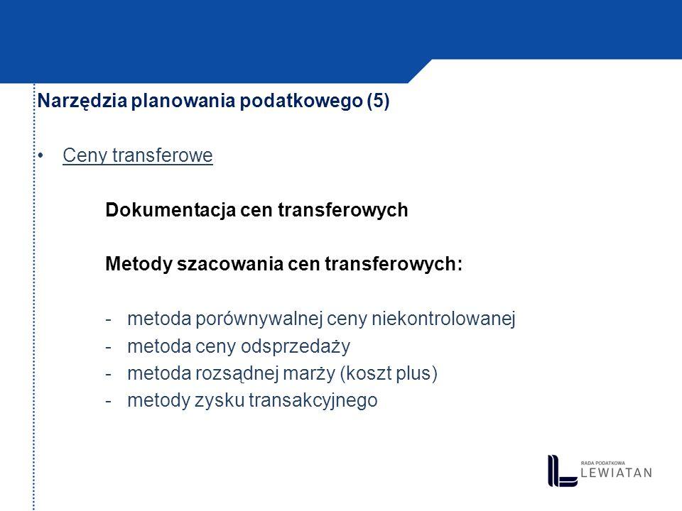Instrumenty planowania podatkowego (1) porozumienia w sprawie cen transakcyjnych (art.