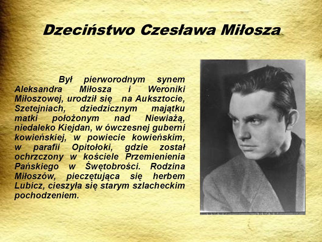 Czesław Miłosz po II wojnie światowej W okresie tym Miłosz aktywnie wspierał system stalinowski w Polsce.