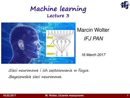 Machine learning Lecture 3