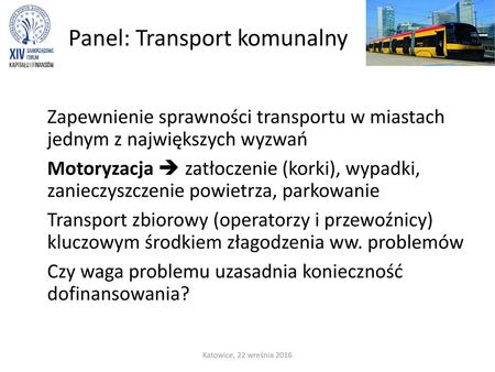 Panel: Transport komunalny