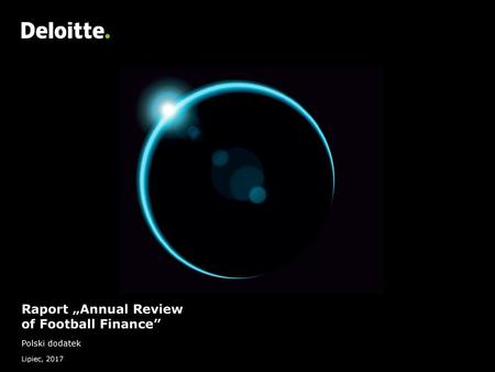 "Raport ""Annual Review of Football Finance"""