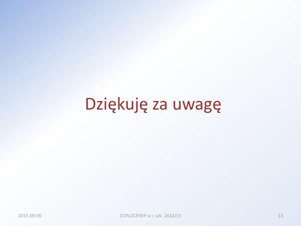 Priorytety KO Podniesienie jakości kształcenia w zakresie matematyki 227 Podniesienie jakości kształcenia w zakresie fizyki 156 Podniesienie jakości kształcenia w zakresie nauk matematyczno-przyrodniczych 37 Podniesienie jakości kształcenia w zakresie języka niemieckiego 12 2015-09-06ODN ZCEMiP w r.