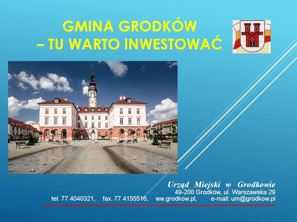 CHARAKTERYSTYKA GMINY GRODKÓW Gmina Grodków położona jest w południowo - zachodniej części województwa opolskiego.