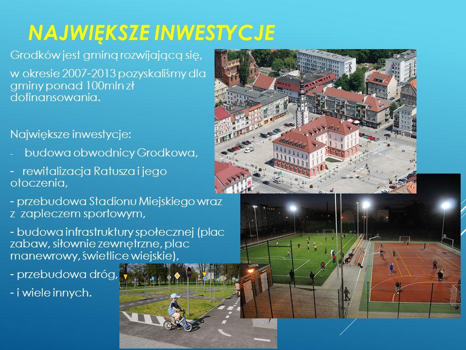 """BAZA NOCLEGOWO – GASTRONOMICZNA : W chwili obecnej w Grodkowie istnieją następujące obiekty: - hotel Sulisław – 208 miejsc noclegowych, - hotel – restauracja """"w Zameczku ok."""