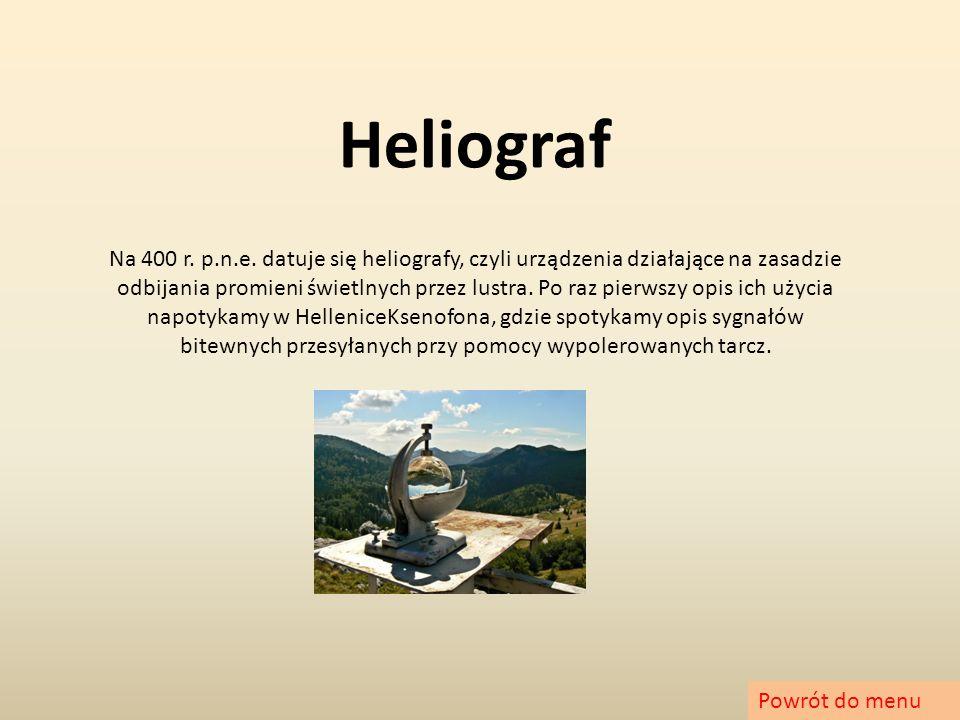 Semafor Najbardziej zaawansowanych wariantem 'optycznego telegrafu' jest semafor.