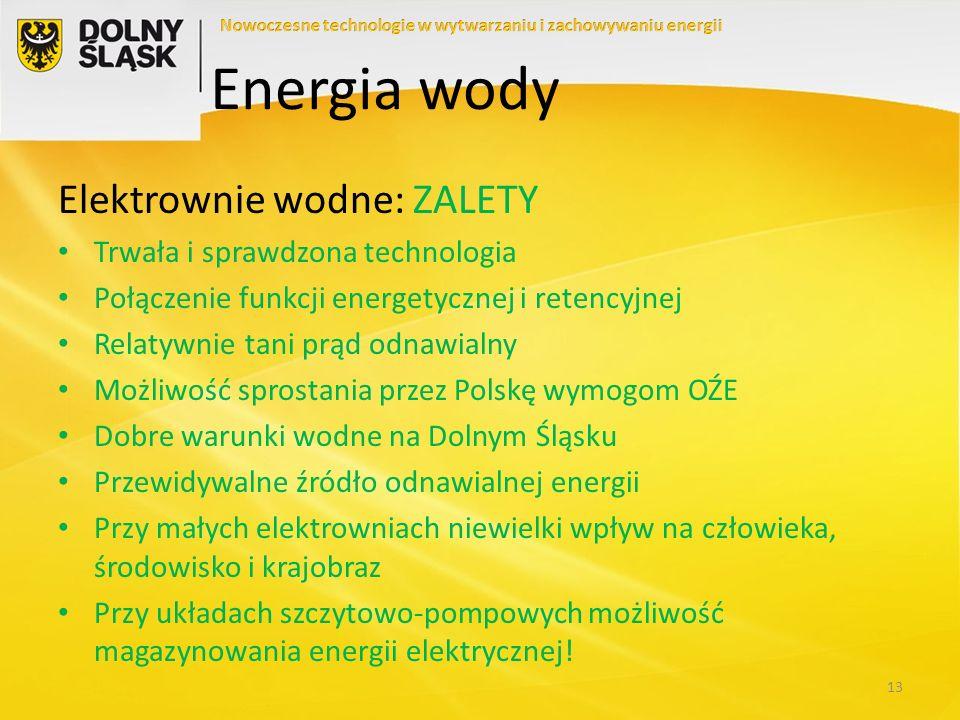 Elektrownie wodne: WADY Duży koszt inwestycyjny przy realnie małej mocy zainstalowanej Duży wpływ na środowisko ogromnych elektrowni wodnych Kłopot z lokalizacją nowych obiektów na terenach chronionych Problem z przyłączeniem małych elektrowni do sieci elektroenergetycznej Wysoki koszt odtwarzania zabytkowych obiektów 14 Energia wody