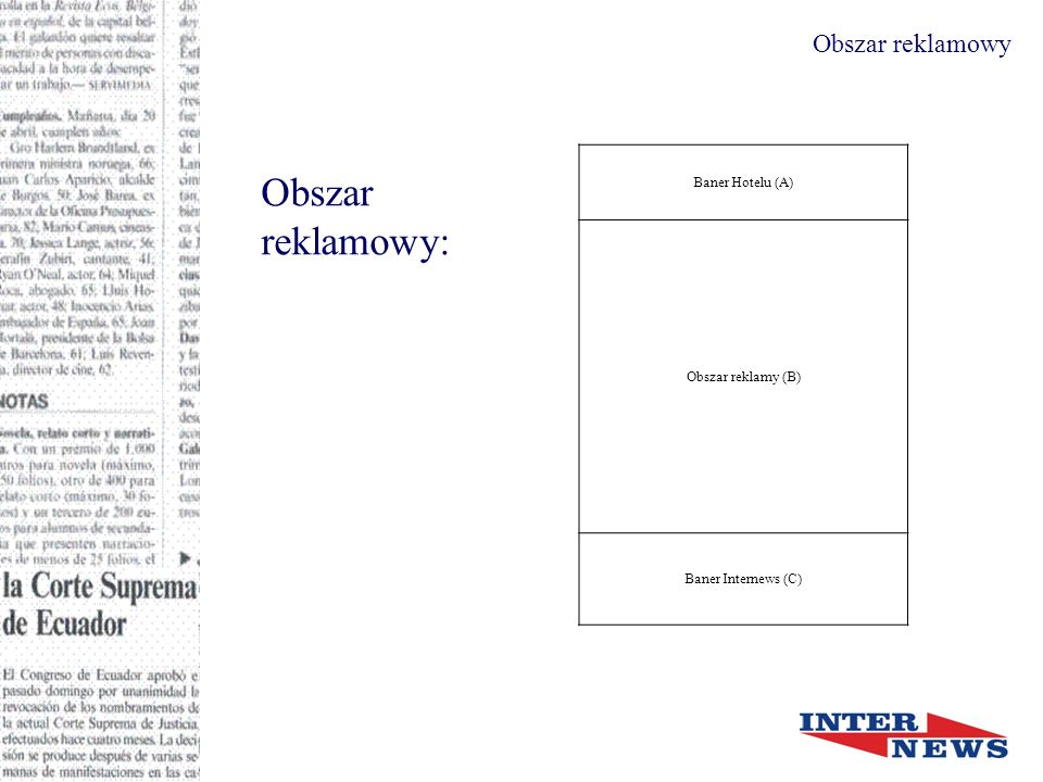Obszar reklamowy Obszar reklamowy: Format A3 (297x420 mm) Obszar reklamy (mm) Obszar reklamy (picas) Obszar reklamy = B254 x 32360 x 76 Wymagany format pliku: pdf Wymagana rozdzielczość: 150 – 300 dpi