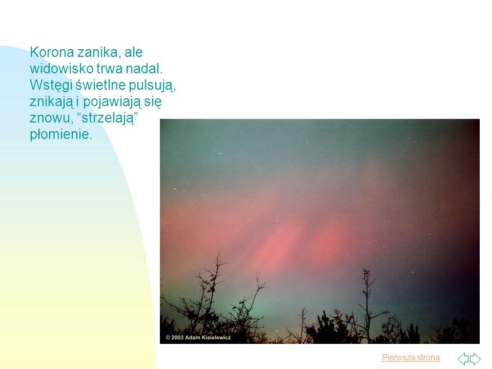 Pierwsza strona Arystoteles, obserwujący to zadziwiające zjawisko stwierdził, że powietrze zmienia się w płynny ogień.