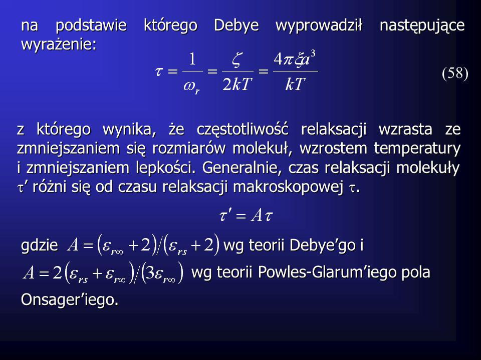 Diagram Debyeiego i Cole-Colego Zobrazowanie graficzne i w funkcji częstotliwości tworzy wykres Debyeiego dla materiału.