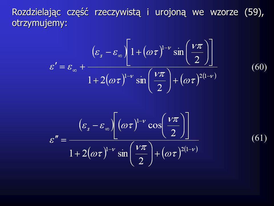 Czas relaksacji już nie ma wartości znaczącej i mieści się wokół wartości środkowej 0 zgodnie z funkcją: (62)