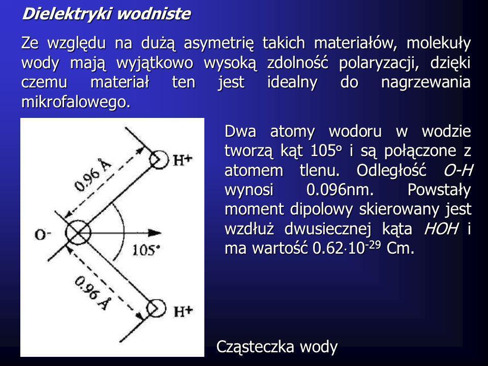 Woda w dielektrykach wodnistych może występować w różnych stanach skupienia.