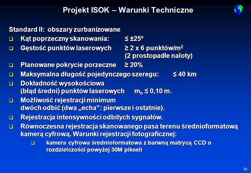 31 Produkty opracowania (w zakresie LIDAR): 1.