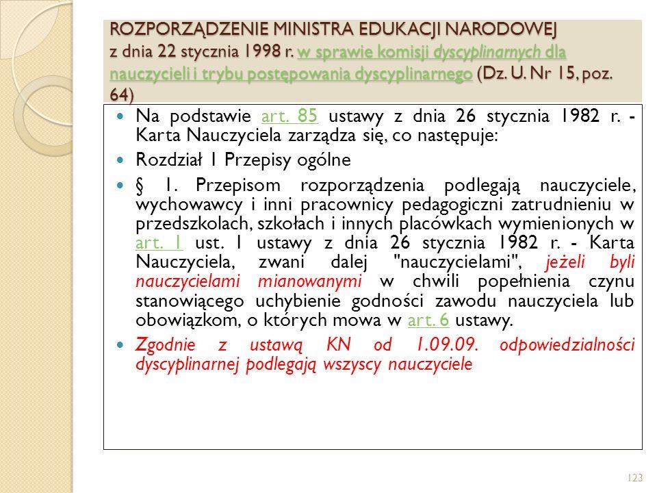 KARTA NAUCZYCIELA Rozdział 11 Uprawnienia emerytalne Art.