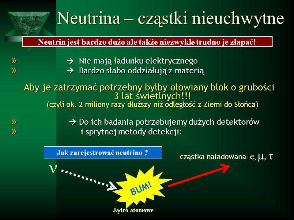 jak zaobserwowac neutrina.rekonstrukcja – próba uzyskania maksimum informacji: czas, energia...