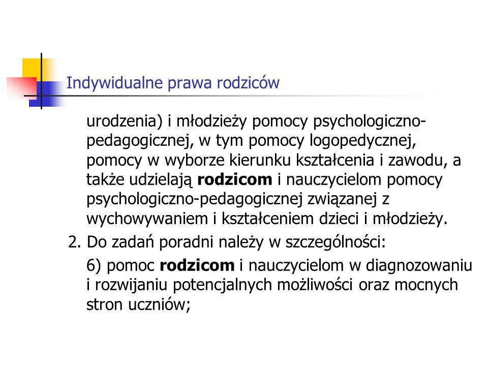 Indywidualne prawa rodziców 3.
