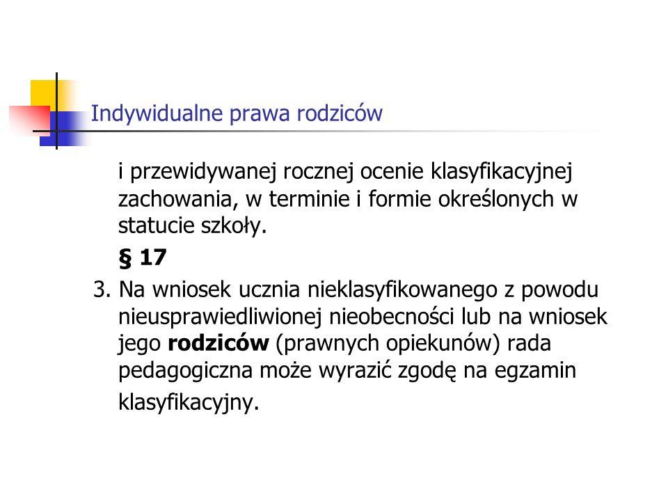 Indywidualne prawa rodziców 9.