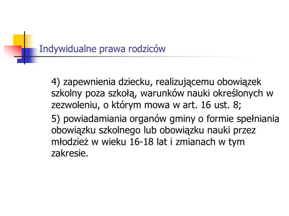 Indywidualne prawa rodziców Art.19 1.