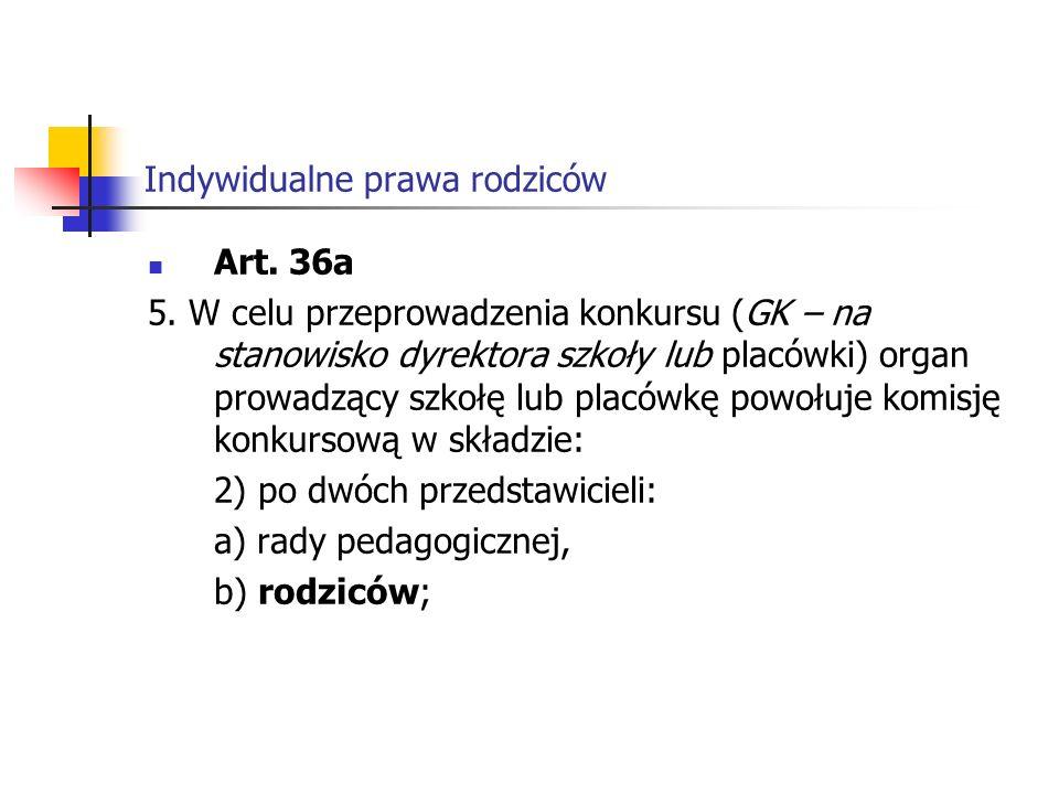 Indywidualne prawa rodziców 5b.Przepis ust.