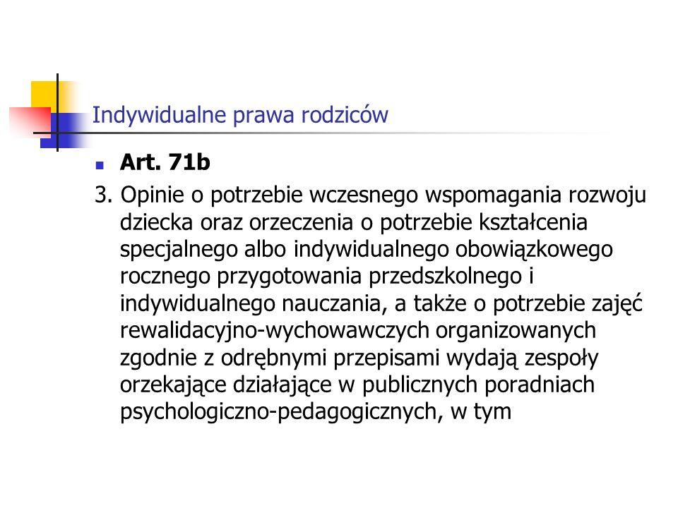 Indywidualne prawa rodziców w poradniach specjalistycznych.