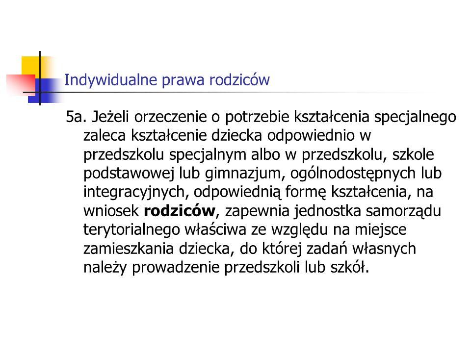 Indywidualne prawa rodziców Art.84 3.