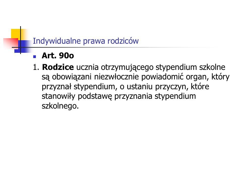 Indywidualne prawa rodziców Rozporządzeniu Ministra Edukacji Narodowej i Sportu z dnia 31 grudnia 2002 r.