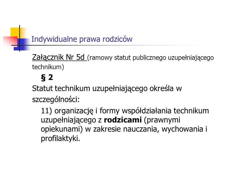 Indywidualne prawa rodziców § 11 2.