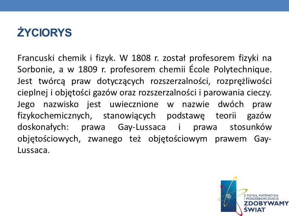 QUIZ 1.W którym roku Joseph Louis Gay-Lussac został profesorem na Sorbonie.