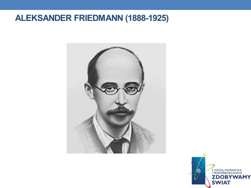 ALEKSANDER FRIEDMAN Aleksander Aleksandrowicz Friedmann lub Friedman, ur.