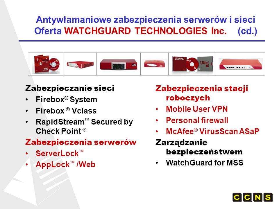 Antywłamaniowe zabezpieczenia serwerów Oprogramowanie ServerLock