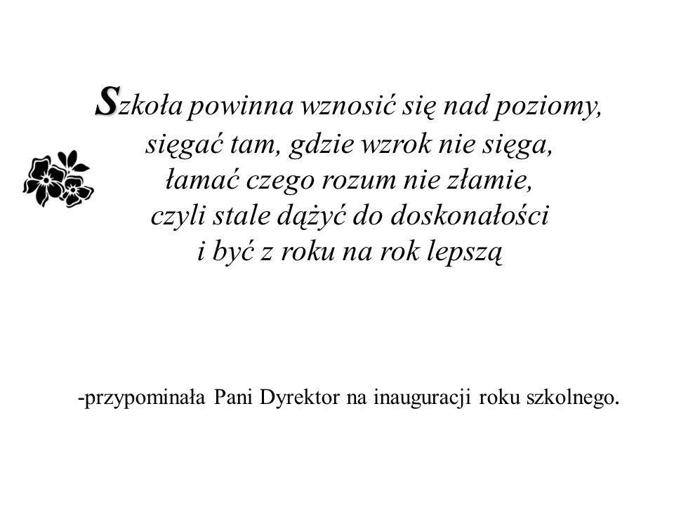W W ymagajcie od siebie, choćby inni od was nie wymagali - cytowała słowa Jana Pawła II.