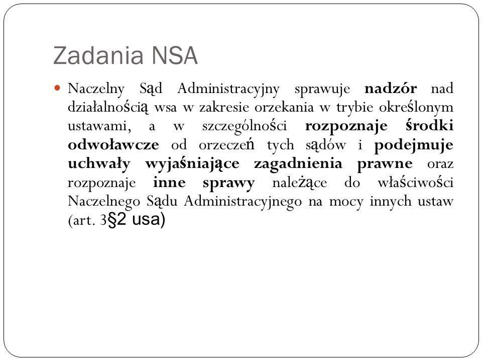 Zadania i właściwość NSA cd.