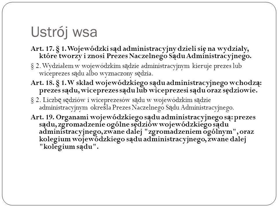 Ustrój – organizacja NSA Art.30.