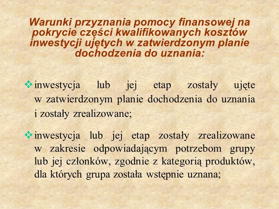 WARUNKI PRZYZNAWANIA POMOCY FINANSOWEJ c.d.