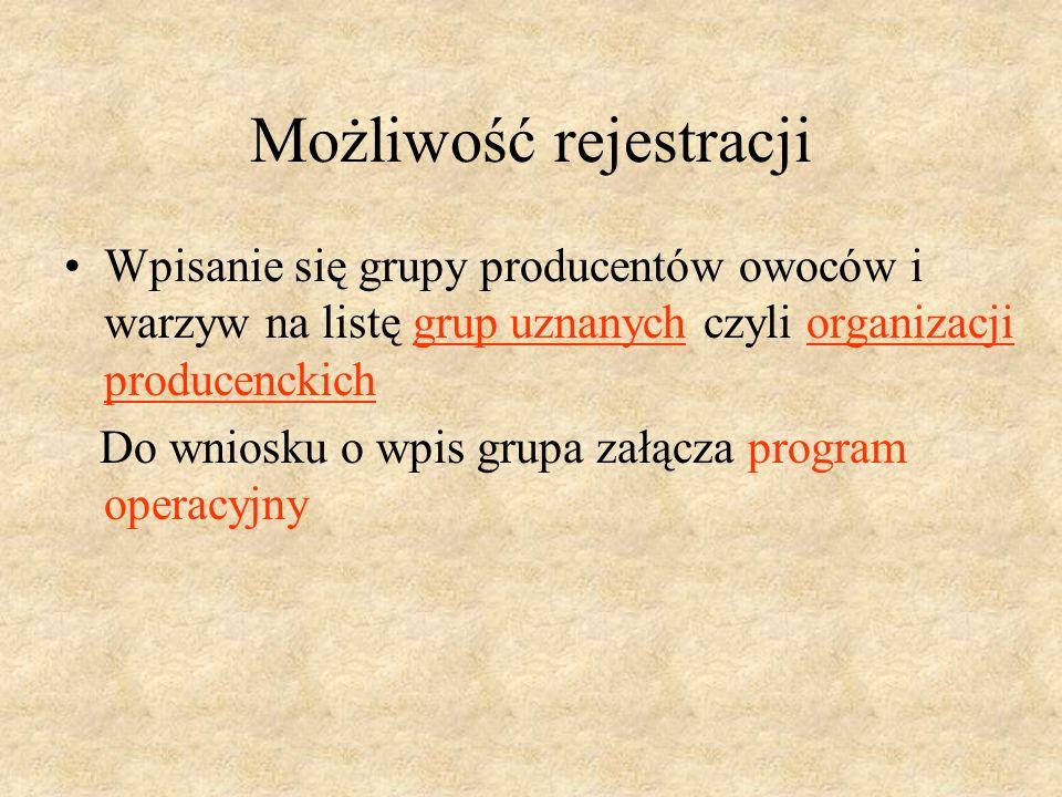 Rejestracja podmiotu jako grupy Grupa składa wniosek o wpisanie grupy do rejestru grup prowadzonego przez właściwego marszałka województwa ze względu na siedzibę grupy.