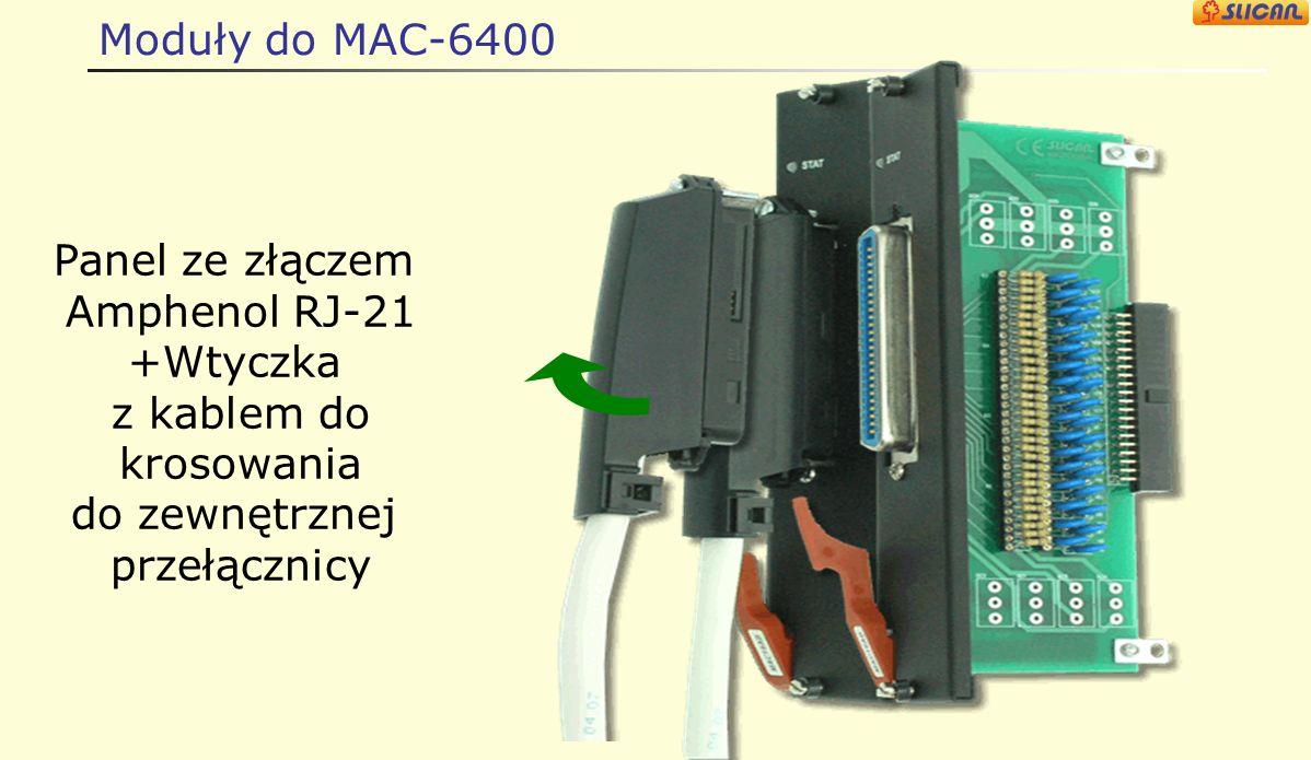 Moduły do MAC-6400 Panel ze złączem Amphenol RJ-21 +Wtyczka z kablem do krosowania do zewnętrznej przełącznicy