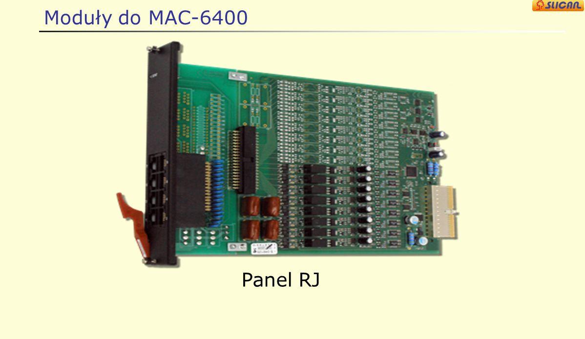 Moduły do MAC-6400 Panel RJ