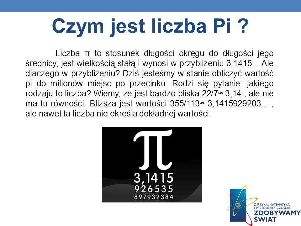 Czy jest możliwe, żeby liczba pi była równa pewnemu ułamkowi tym samym należącą do zbioru liczb wymiernych.