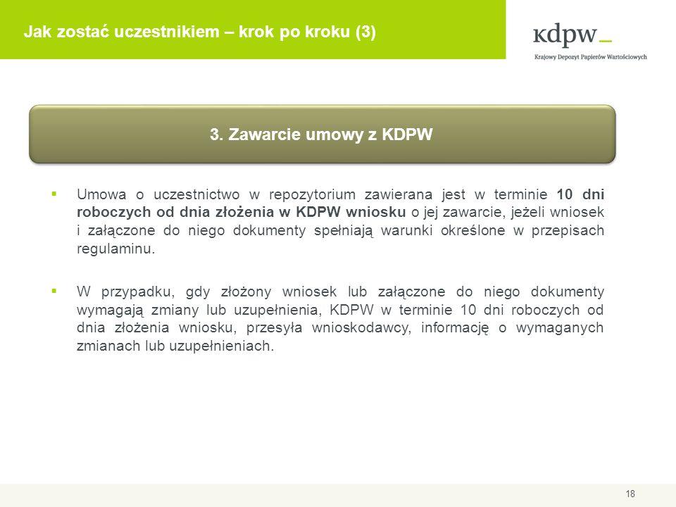 Komercyjny użytkownik repozytorium (KUR) KUR: podmiot, będący upoważnionym przez uczestnika użytkownikiem repozytorium, posiadający dostęp do informacji o kontraktach pochodnych, których stroną jest ten uczestnik, na podstawie zawartej z KDPW umowy o poufności 19 KUR uzyskuje dostęp do informacji o transakcjach innego podmiotu – wyłącznie za jego zgodą.