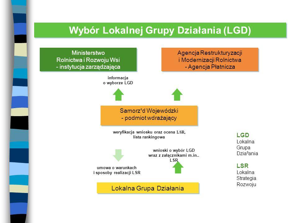 Kryteria dostępu dla LGD (1) Partnerstwo trójsektorowe składające się z sektora publicznego, prywatnego i pozarządowego.