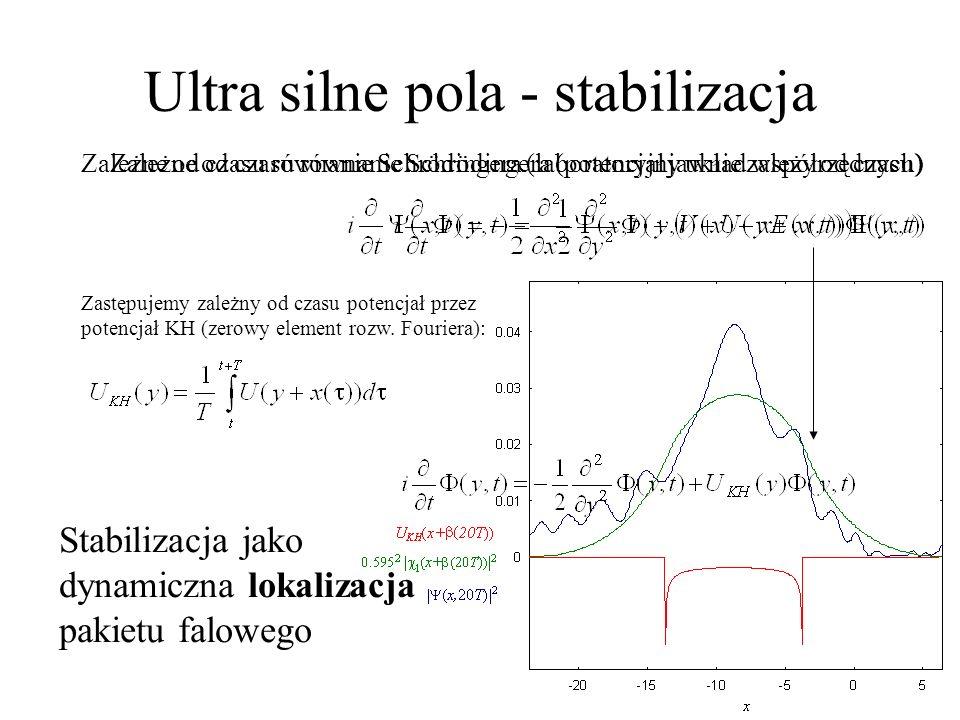 Stabilizacja w jonizacji Jonizacja: wpływ osobliwości w 1D
