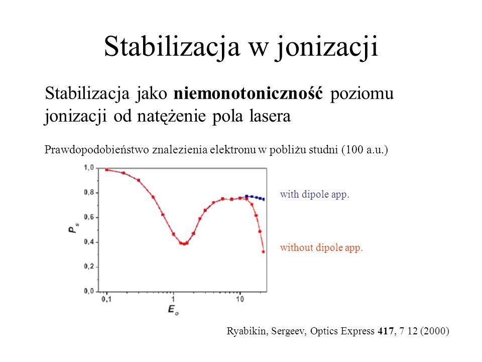 Stabilizacja w jonizacji Magnetyczny dryf – wyjście poza przybliżenie dipolowe