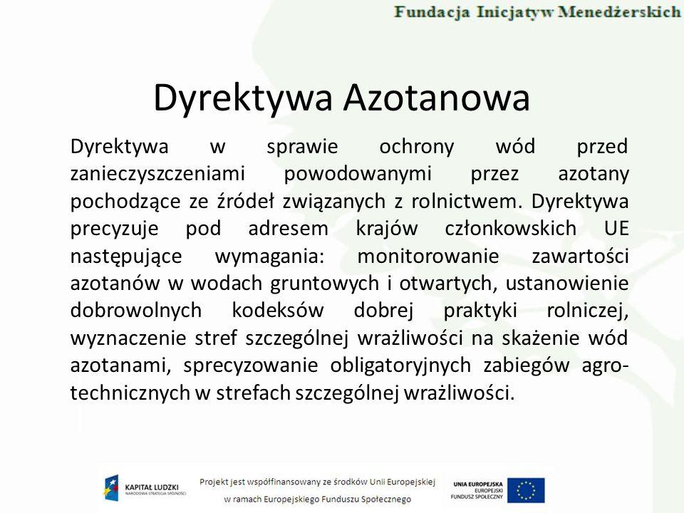 Ramowa Dyrektywa Wodna Europejska Ramowa Dyrektywa Wodna (ang.