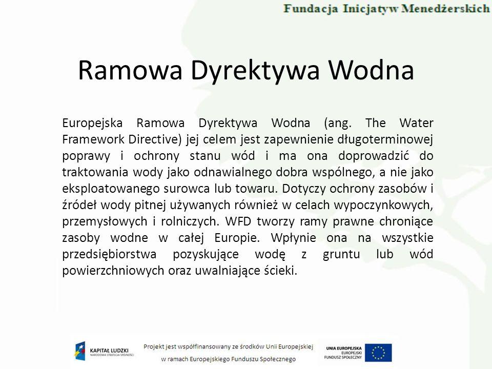 Dyrektywa Powodziowa Dyrektywa 2007/60/WE Parlamentu Europejskiego i Rady w sprawie oceny ryzyka powodziowego i zarządzania nim z 23 października 2007 r.