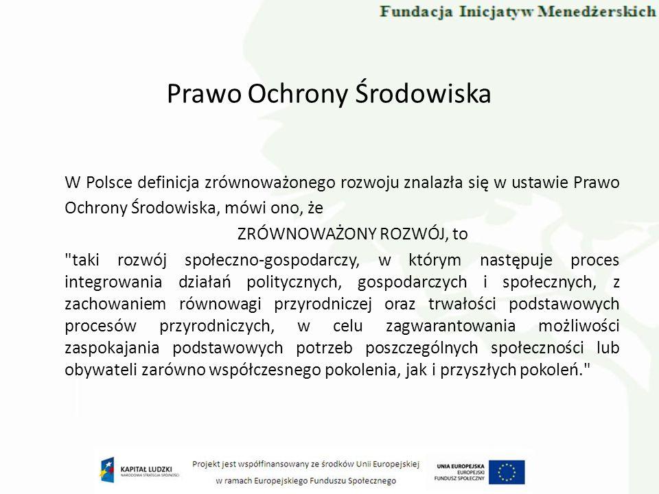 Instytucje ochrony środowiska i zrównoważonego rozwoju w Polsce