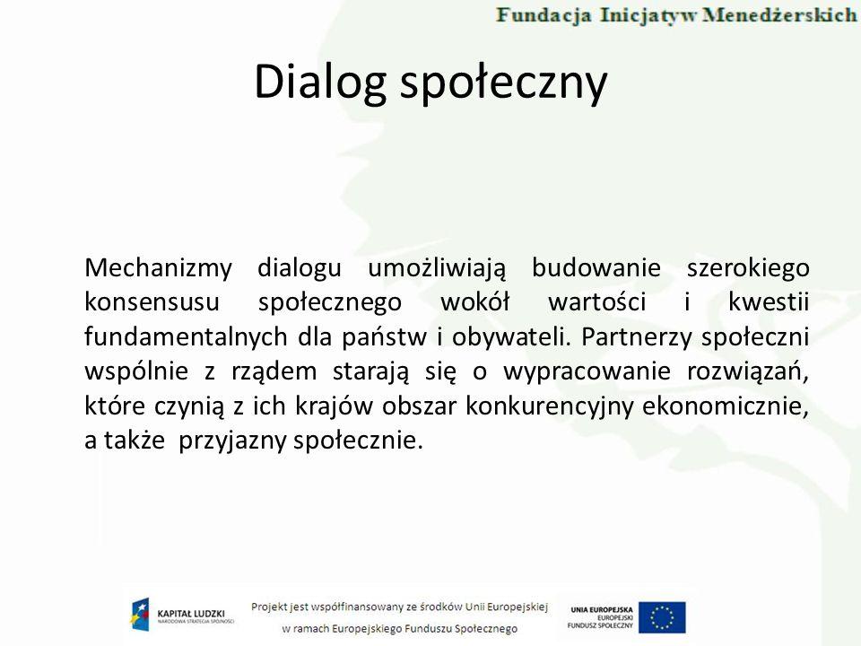 Dialog Społeczny w Polsce W Polsce rangę dialogu społecznego podkreśla Konstytucja.
